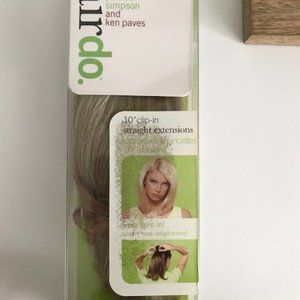"""10"""" Clip-In Hair Extension Straight ~ Golden Wheat"""